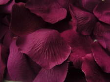 100 PLUM/PURPLE SILK ROSE PETALS/CONFETTI/TABLE DECORATIONS/WEDDING