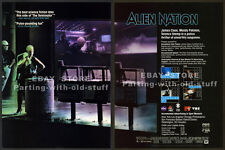 ALIEN NATION__Original 1989 Trade Print AD movie promo_MANDY PATINKIN_JAMES CAAN