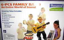 Kids Instrument Band Set - Guitar, Keyboard, Drum, Recorder, Tamborine - 6 Piece