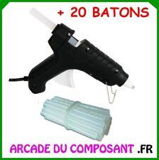 PISTOLET A COLLE  55W + 20 BATTONS DE 15cm (ref 65-4074 +65-0731)