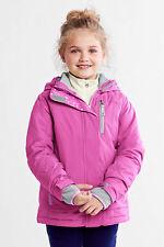 New Fall Winter Girls Lands End Pink Hooded~Sz 16~XL~3 in 1 Coat~Jacket~Fleece