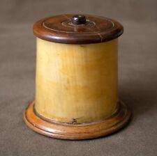 Rare c1780 Georgian Horn and Yew String Box