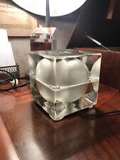 Decorative Arts ????lampada Cubo Table Lamp Applique Vintage Space Age Design Cubik 5 Cubosfera????