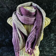 Handmade Purple Wool Scarf Stole Wrap Pashmina Fair Trade