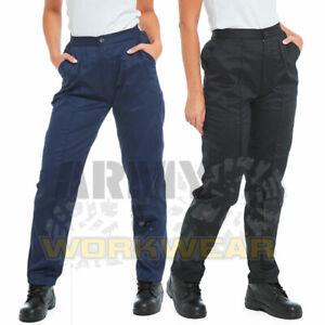 Ladies Womens Work Trousers Healthcare Beauty Uniform Pants Half Elastic Waist