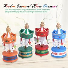 Wooden Carousel Horse Merry-Go-Round Christmas For Kids Gift Decor Ornament Gift