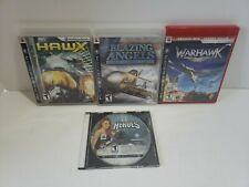 PS3 Heroes Over Europe, Blazing Angels, Warhawk, H.A.W.X  PlayStation 3 Game Lot
