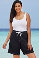 WOMENS Beach Belle Black Long Board Swim Shorts ** Size: 28 ** NEW WITH TAG