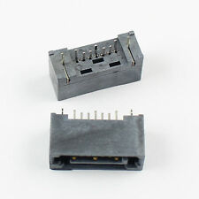 2Pcs Sata Type A 7 Pin Straight DIP Male Connector For Hard Drive HDD
