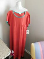 Lularoe Size L Large Solid Carly Short Sleeve STRETCH Knit Dress NWT