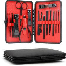 15Pcs Stainless Steel Manicure Set Pedicure Kit Nail Care Women Men Gift IN UK