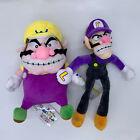 "2X New Super Mario Bros. Wario Waluigi Plush Doll Soft Toy Teddy 11"" 10"""