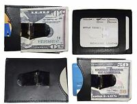 Money Clip, Leather Credit card ID money clip, wallet with magnetic money clip 1