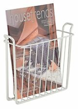 mDesign Newspaper Holder for the Wall - Beautiful Newspaper Wall Mount Holder Ma