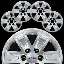 """4 Chrome 2014-17 Gmc Sierra 1500 17"""" Alloy Wheel Skins Hub Caps Full Rim Covers"""