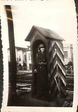RASTATT ? SOLDAT DANS GUERITE PHOTO TROUPES FRANCAISES EN ALLEMAGNE 1947