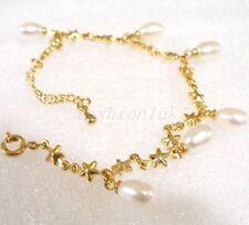 Versilberte Modeschmuckstücke mit Perle für Damen