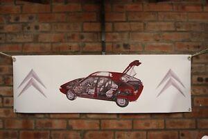citroen bx large pvc banner  garage  work shop  classic show