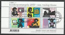 Nederland NVPH 2527 Vel Kinderzegels 2007 Gestempeld Groningen