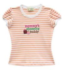Gardening Bear Mommy's Shopping Buddy Peach Stripe Shirt Size 7 (for 6 y/o)