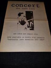 The Cure Concert Rare Original Uk Promo Poster Ad Framed! #2