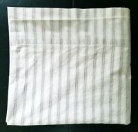 Ralph Lauren King Size Flat Sheet Gray Stripes For Fabric Cutting Only
