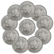 Lot of 10 - 2019 Canada 1 oz. Silver Maple Leaf $5 Coins GEM BU SKU55537