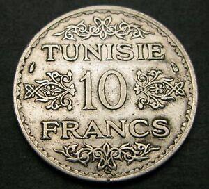 TUNISIA 10 Francs AH 1353 (1934) (a) - Silver - VF - 1283