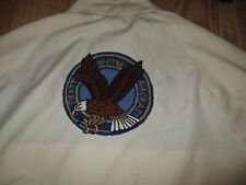 Haggar pratt whitney aircraft jacket zip front wing jacket MEDIUM yellow