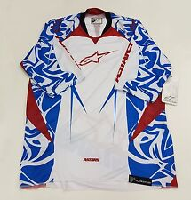 AlpineStars Gravity 3/ 4Sleeve Men's Jersey White Blue Red Size XL