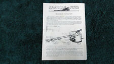 AMERICAN FLYER M2567 # 7B TRANSFORMER INSTRUCTIONS PHOTOCOPY