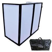 Novopro DJS1 Black Foldable DJ Stand Screen + Bag + White Scrim Cloth EASY SETUP