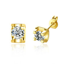 Wedding Stud Earrings Pure Gold Plated