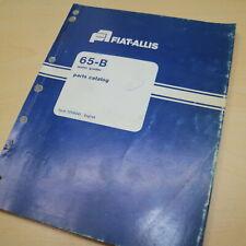 FIAT ALLIS 65B Motor Grader Parts Manual Book catalog spare list road plow index