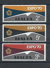 MALTA , EXPO '70 , 1970 , SET OF 3 , PERF , MNH