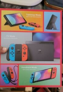 """Nintendo Switch Console RED BLACK OLED Model 7"""" Screen 64 GB Brand New IN HAND"""