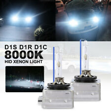 8000K Blue D1C D1S D1R HID Xenon Headlight Light OEM Replacement Bulb Lamp Pair