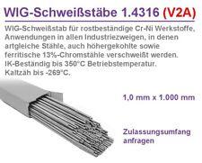 V2A Schweißdraht WIG Edelstahl MIX SET -32 Stäbe- Draht schweißen Wst.Nr. 1.4316