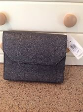 Great Kin by John Lewis Black/silver Sparkly Evening Bag