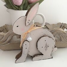 VINTAGE FRENCH GREY STYLE WOODEN BUNNY RABBIT EASTER HOME DECOR  NURSERY DECOR