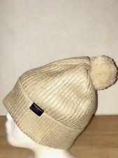 BNWT COACH Lámina Metálica sombrero de punto beige. idea De Regalo! RRP £ 140