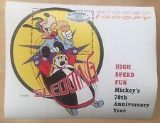 St. Vincent & The Grenadines- Disney Sledding Stamp - Souvenir Sheet MNH