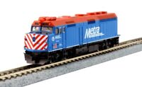 Kato 176-9104 N EMD F40PH Chicago Metra #142 Locomotive