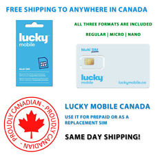 Lucky Mobile SIM Card - Multi SIM - FREE SHIPPING