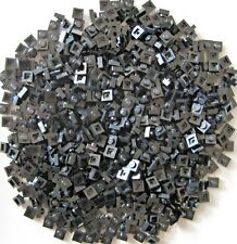 LEGO NEW 1x1 BASEPLATES (BLACK)  LOT OF 100 PIECES FREE SHIPPING