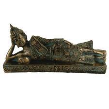 Thai Buddha Figur liegend Buddhismus Hausaltar Dekofigur Meditation Feng Shui