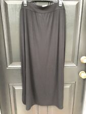 New Chico's Zenergy Retreat Pipe Detail Black Knit Maxi Skirt 2 Large 12 14 NWT