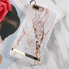 Slim Retro Granite Marble Pattern Soft TPU Phone Case Cover For iPhone 8 7 Plus
