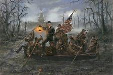 Jon McNaughton CROSSING THE SWAMP 10x15 Donald Trump Delaware River Art Print