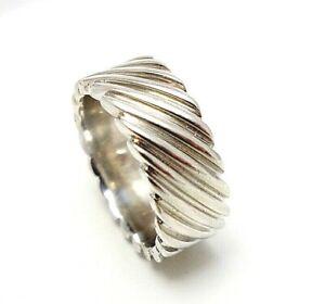 497.Tchibo chicer Bandring Ring Silberring 925er Silber RG.53 (16,8 mm Ø)